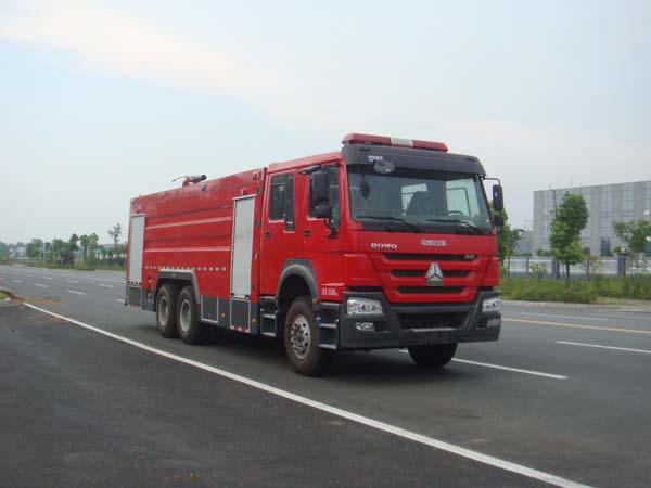 重汽豪沃16吨泡沫消防车(国五)图片