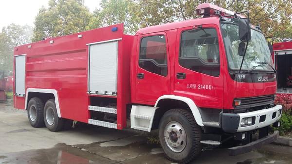 五十铃12吨泡沫消防车图片