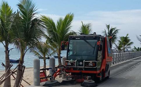 多功能小型清扫车QTH8501作业视频