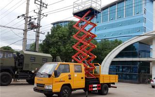 江铃8米、10米升降平台式高空作业车图片