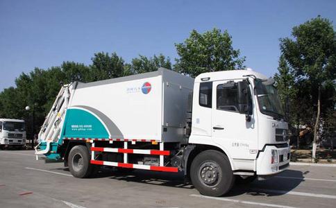 后装垃圾清运车、垃圾运输车工作视频视频