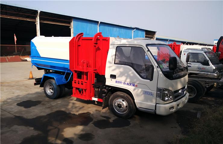 福田小卡(3方)挂桶垃圾车