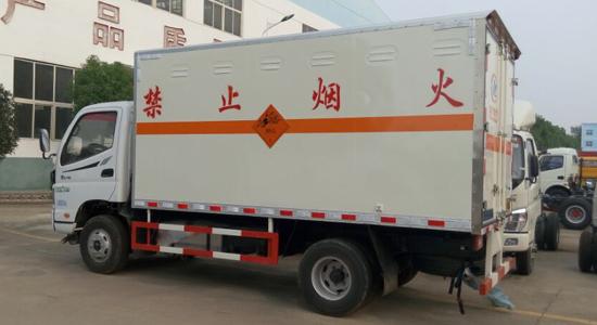 福田欧马可厢式气瓶运输车