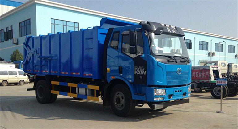 解放J6自卸式垃圾车