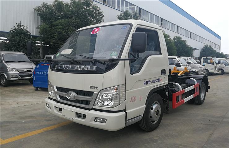 福田小卡(4方)車廂可卸式垃圾車