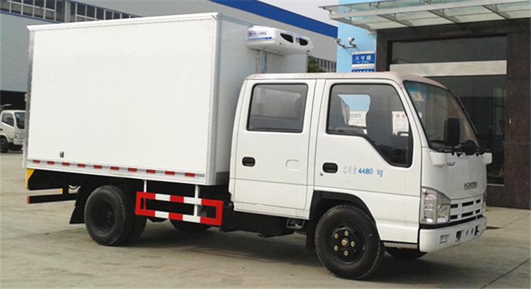 (厢长3.15米)五十铃双排冷藏车