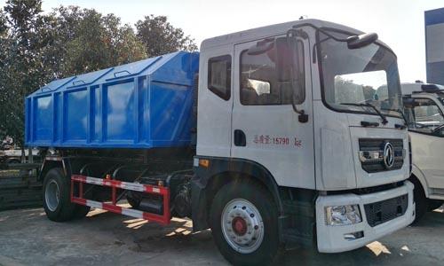 东风多利卡D9车厢可卸式垃圾车