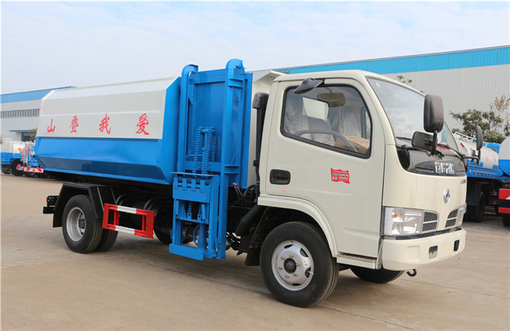 东风小多利卡(5方)挂桶式垃圾车