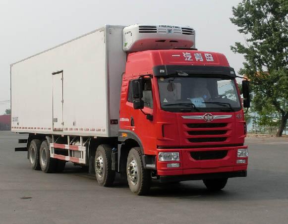 解放天V四桥国五厢长9.43米冷藏车