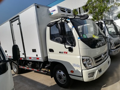 福田奥铃厢长4.1米蓝牌冷藏车