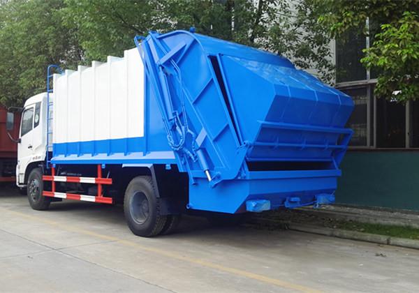 东风天锦12吨压缩式垃圾车图片