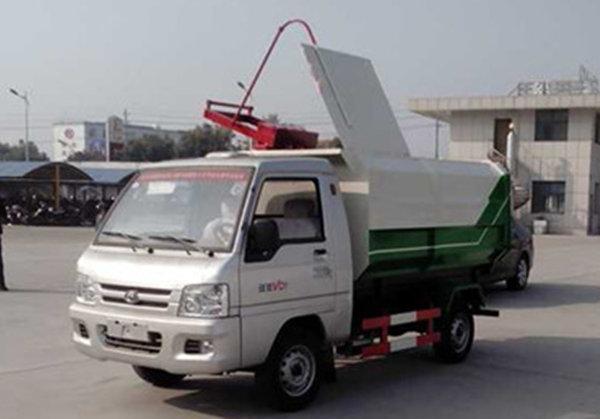福田3噸掛桶垃圾車(汽油)圖片