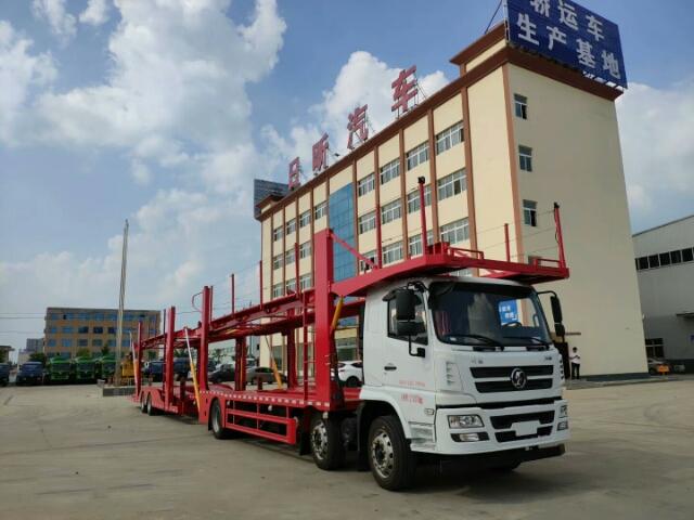 五位轿运车价格27万到35万_陕汽轿运车和解放轿运车最新图片