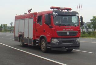 重汽5吨水罐消防车