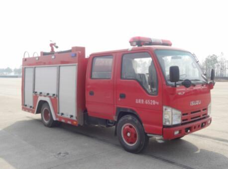 庆铃小型2吨水罐消防车