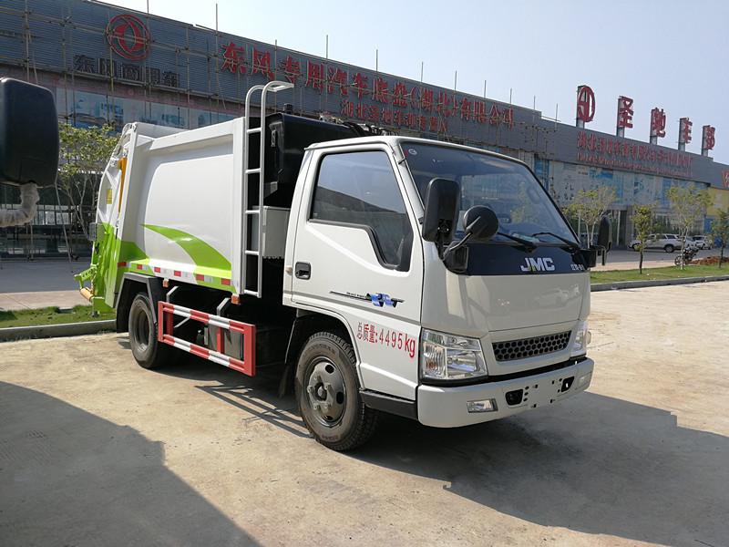 江铃压缩式垃圾车(国五4方)
