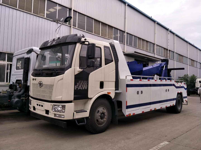 重型清障车_解放J6拖吊联体型清障车厂家详细配置和图片