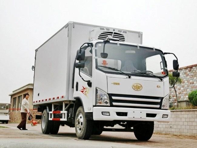 解放虎VN国五厢长4.13米冷藏车图片