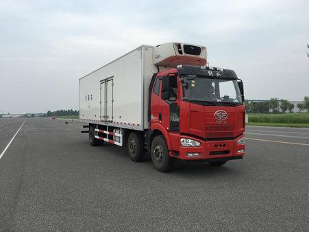 解放J6M小三轴国五厢长9.5米冷藏车