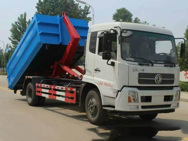 东风天锦12方勾臂垃圾车图片
