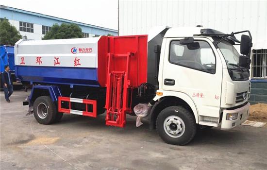 东风多利卡8方挂桶垃圾车图片