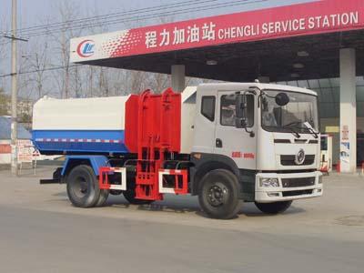 8方东风D7挂桶垃圾车图片