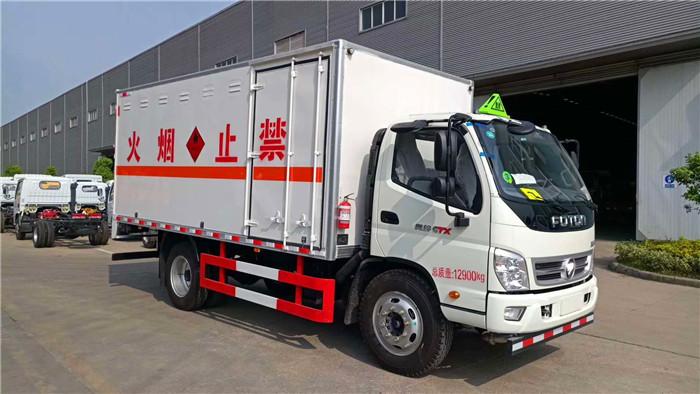 4米福田奥铃易燃液体厢式运输车4.4吨