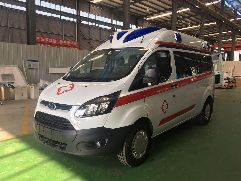 福特新全顺V362中轴中顶半监护型汽油版救护车