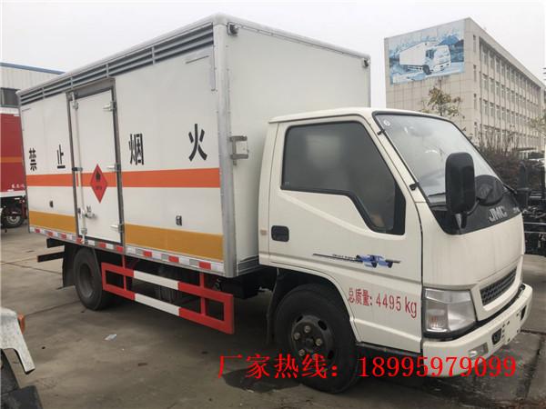 江铃1.4吨蓝牌小型易燃液体厢式运输车
