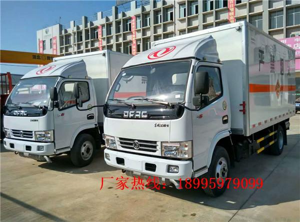 东风多利卡八类3.4吨腐蚀性物品厢式运输车