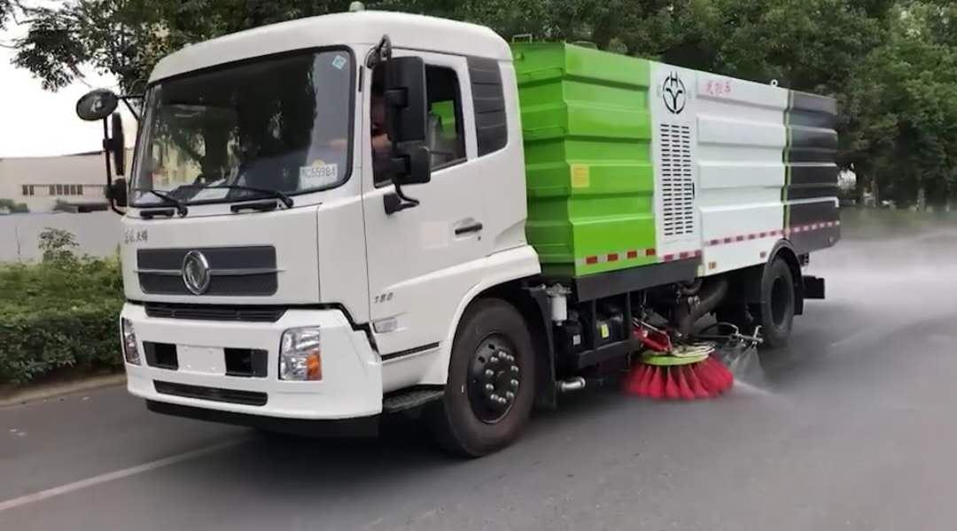 天錦5000軸距洗掃車