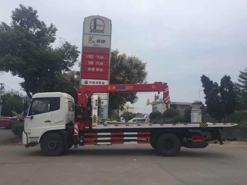 东风天锦清障车带长兴6.3吨4节直臂吊图片