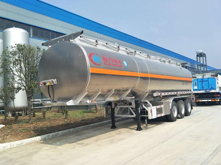 42立方铝合金半挂油罐车