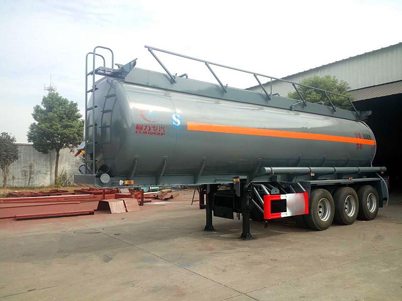 26.25m3半掛液堿運輸車/碳鋼罐