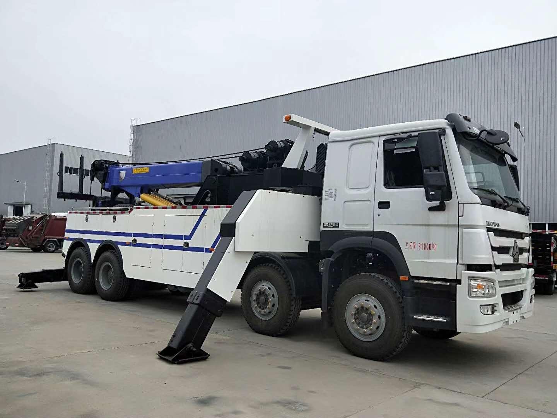 30吨360度旋转吊重型清障车,可拖举牵引半挂车!图片