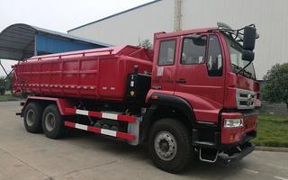 重汽厢式污泥运输车图片