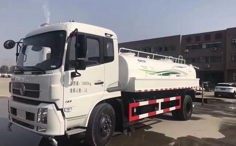 东风天锦洒水车视频