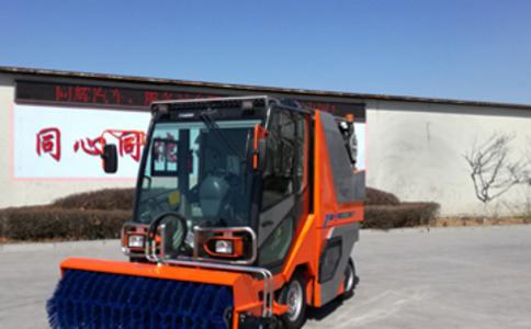 小型除雪扫路机作业视频