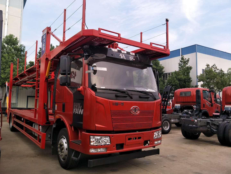 八位解放J6中置轴轿运车厂家价格 30多万轿运车的是什么样的?