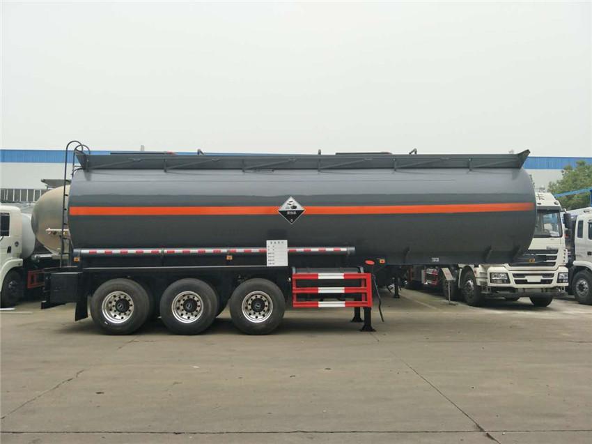 28.6m³氢氯酸半挂运输车/衬塑罐