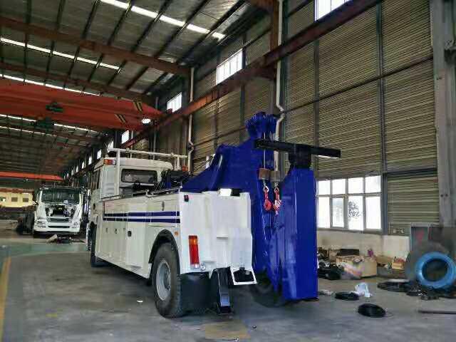 16吨陕汽德龙拖吊联体重型拖车