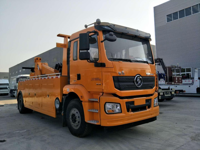 16吨陕汽德龙重型清障车视频