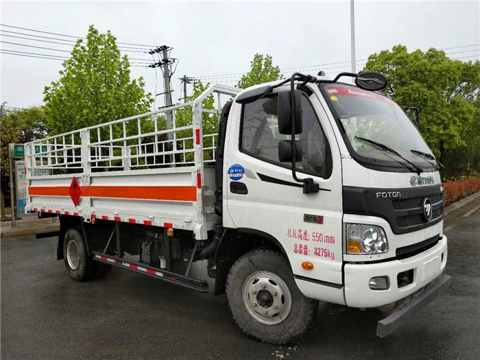 国五5.1米福田欧马可7吨气瓶运输车