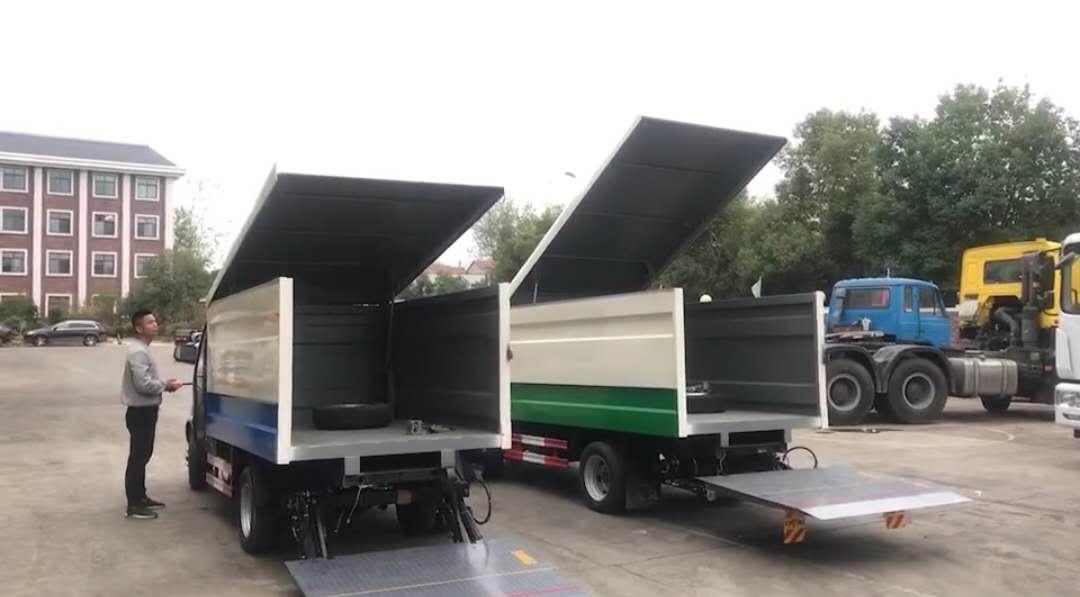 东风8方密封式桶装垃圾车操作视频
