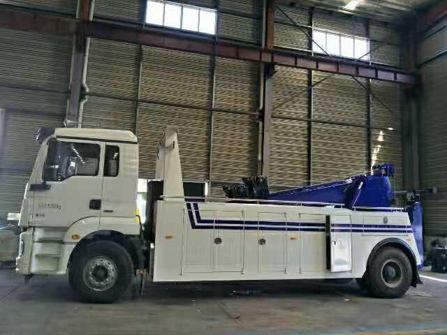 重型清障车16吨陕汽拖吊联体