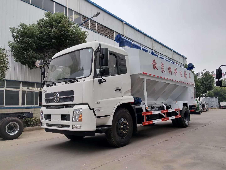 东风天锦22方散装饲料车图片