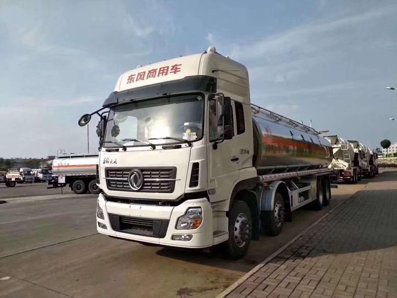 东风天龙20吨油罐车图片