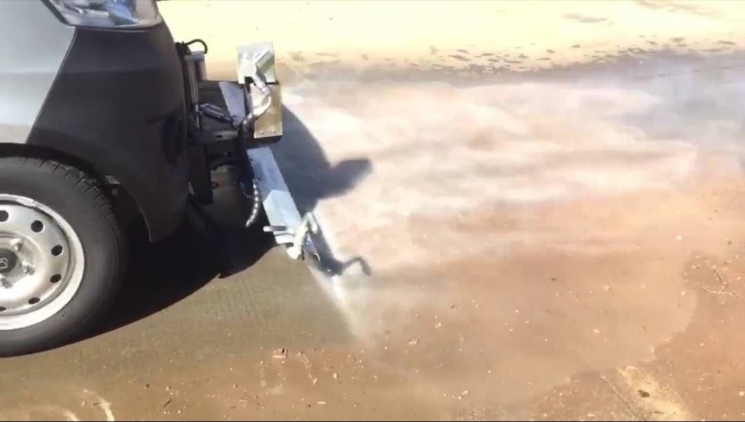 小长安路面清洗车试车效果展示视频