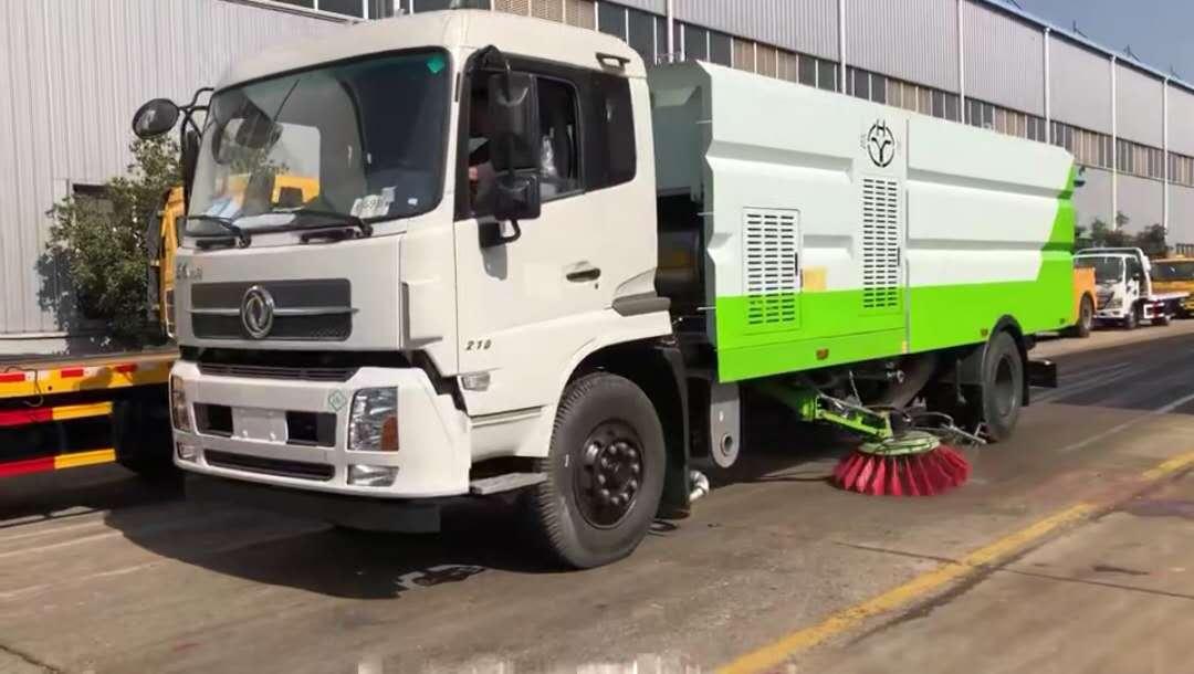 东风LNG国六16吨洗扫车视频
