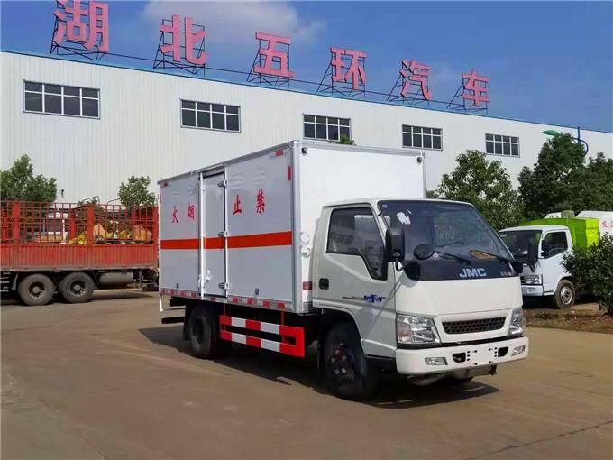 4米2江铃腐蚀性物品箱式运输车